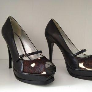 Bakers leopard Print High Heel Sandal SZ10